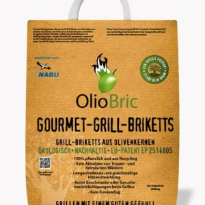 Oliobric, premium Grillbriketts, nachhaltig grillen